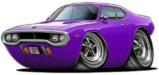 1971 72 Roadrunner GTX Muscle Car Cartoon Tshirt FREE