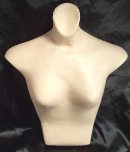 VINTAGE OLD PAPER PAPIER MACHE WOMAN GIRL DRESS FORM TORSO MANNEQUIN