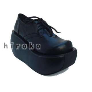 Goth visual kei cosplay rock lolita punk shoes platform US 5 11 FREE