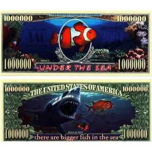 Set of 10 Bills Under The Sea Million Dollar Bill Toys & Games