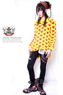 VISUAL KEI Punk X Japan HIDE HEART GUITAR KNIT SWEATER