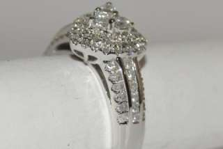 Engagement Ring Wedding Ring 1ct 14K White Gold Heart Shape SI/F
