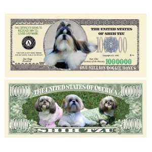SET OF 5 BILLS SHIH TZU MILLION DOLLAR BILL Toys & Games