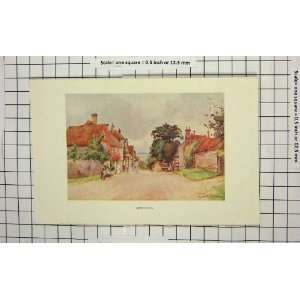 Colour Print Street Scene Hartfield England Home & Kitchen