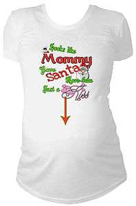 Santas helper t shirt pregnant maternity elf christmas for Funny christmas maternity t shirts