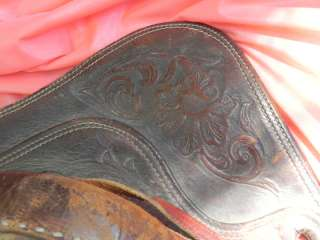15 INCH TEX TAN HEREFORD WESTERN RACING SADDLE
