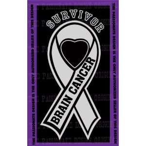 Brain Cancer Ribbon Decal 4 X 7