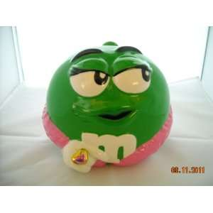 M&Ms Green Character Valentina Candy Jar New