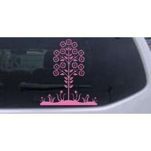 Flower Stalk Big Blooms Flowers And Vines Car Window Wall Laptop Decal