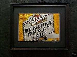 MILLER GENUINE DRAFT LIGHT BEER SIGN #51B
