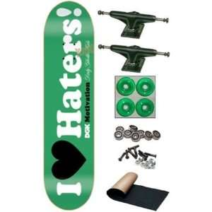 DGK Mota I love Haters Green Complete Skateboard Deck New