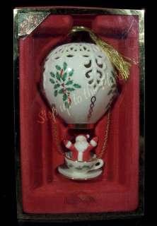 Lenox China 2002 Santa Hot Air Balloon Annual Holiday Christmas Tree