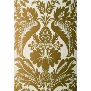 Montebello Damask Slate by F Schumacher Wallpaper