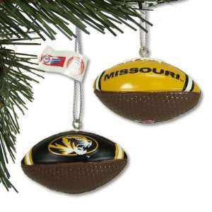 MISSOURI TIGERS OFFICIAL MINI FOOTBALL CHRISTMAS ORNAMENTS