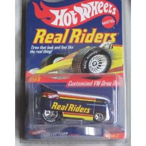 Hot Wheels Real Riders Customized VW Drag Bus BLUE Volkswagen Series 3