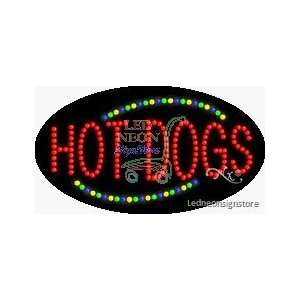 Hot Dogs LED Business Sign 15 Tall x 27 Wide x 1 Deep