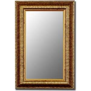 Framed ready to hang wall mirror with 1/4 bevel. by