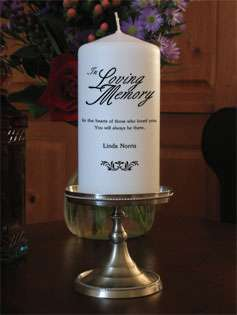 Custom In Loving Memory Candles from Goody Candles Photo Candles