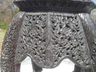 Antique Anglo Indian Highly Carved Wood Export Table |