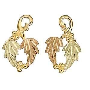 Stamper 12K Black Hills Gold Womens Earrings. E815 Jewelry