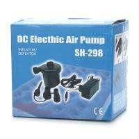 25W AC DC Electric Air Pump Home Car Inflate Deflate 3 x Nozzles