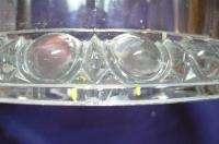 RARE EAPG GLASS IMPERIAL CUBE CUT STORE TOBACCO JAR 101 BULLS EYE