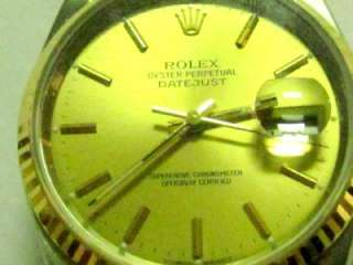 MENS ROLEX OYSTER PERPETUAL DATE 18K GOLD STAINLESS