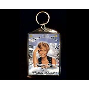 In Loving Memory of Whitney Houston Double Sided Key Chain