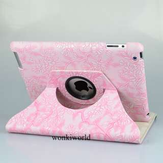iPad 3 3rd Generation 360° Rotating Smart Cover Leather Case Swivel