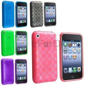 TPU Silicone Case Skin Cover Accessory Pack Bundle For Apple IPHONE 3G