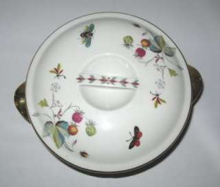 Royal Worcester Strawberry Fair Small Casserole Gold