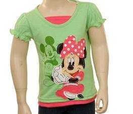 Disney MINNIE MOUSE MICKEY Shirt Top Tee 2T 3T 4T
