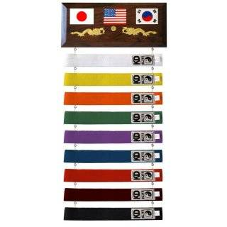 Ten Level Martial Arts Karate Belt Display Sports