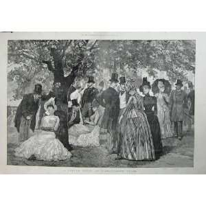 Garden Party Marlborough House People Trees Art 1888