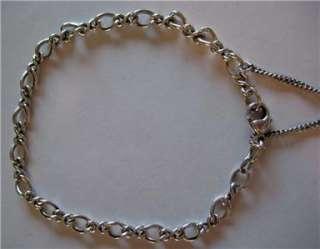 James Avery Sterling Silver Medium Twist Charm Bracelet 8