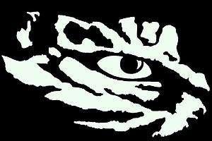 LSU Eye of the Tiger Vinyl Decal