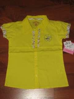 NEW GIRLS SIZE 4 4T CLOTHES LOT DISNEY POLO HELLO KITTY