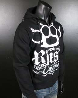 RUSH COUTURE Hoodie BRASS KNUCKLES 5 with Studs Jersey Shore!