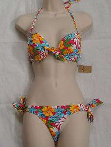 HOLLISTER Multi Color Floral Prints Strings Bikini NEW NWT