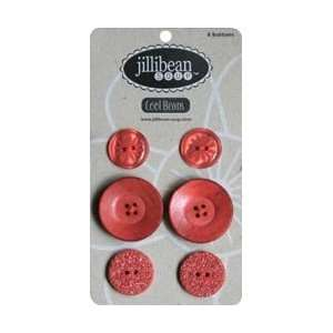 Soup Cool Buttons 6/Card Red JBB 8803, 4 Item(s)/Order Home & Kitchen