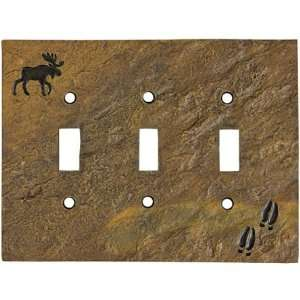 Moose & Tracks Stonecast Triple Switch Plate Cover: Home