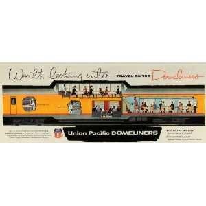 com 1956 Ad Union Pacific Railroad Logo Train Domeliners Los Angeles
