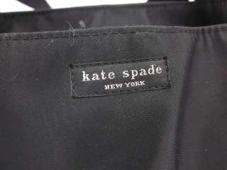 AUTH KATE SPADE Black Nylon Diaper Bag Handbag