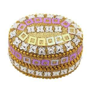 Lisbeth Dahl Rose and Gold Glitter Oval Box