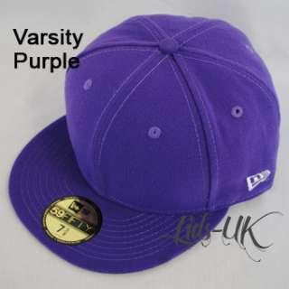 NEW ERA 59fifty PLAIN CAP HAT 5950 ROYAL, BLACK, RED +