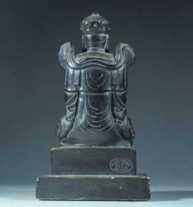 CHINESE BLACK MUD KWAN YIN FIGURE
