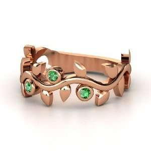 Liana Ring with Three Gems, 14K Rose Gold Ring with