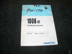Komatsu 1006 6T perkins engine parts book manual