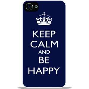 Rikki KnightTM Keep Calm Be Happy   Blue Color White Hard
