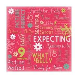 New   Maternity/Baby Shower Paper 12X12   Mommy To Be Collage by Karen